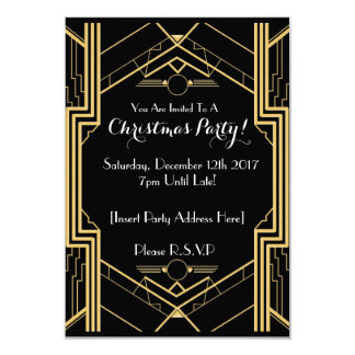 1920's Themed Christmas Party Invitation