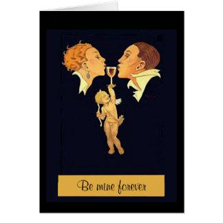 1920's Valentine Kiss Card