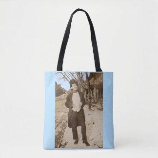 1920s vernacular photo classy young man tote bag