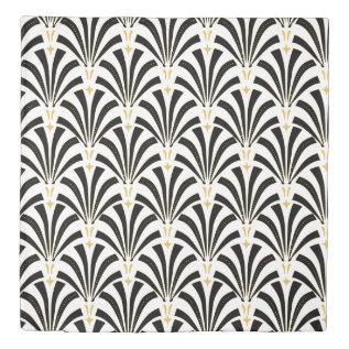 1920s Vintage Art Deco Fans Pattern Duvet Cover at Zazzle