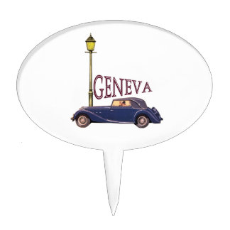 1920's Vintage Automobile - Geneva Cake Pick