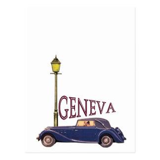 1920's Vintage Automobile - Geneva Postcard