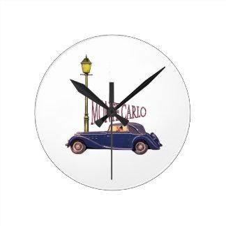 1920's Vintage Automobile - Monte Carlo Round Wallclocks