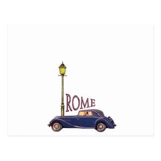 1920's Vintage Automobile - Rome Postcard