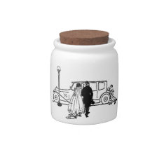 1920's vintage bride and groom candy dishes at Zazzle