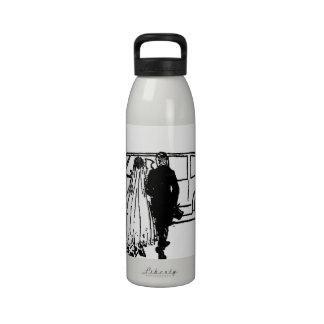 1920's vintage bride and groom reusable water bottle