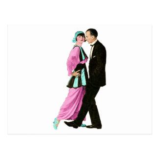 1920's Vintage Dancing Couple Postcard