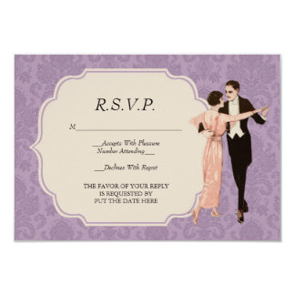 1920's Vintage Dancing Couple R.S.V.P. Card