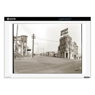 1920's vintage Street Photo Decals For Laptops