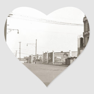 1920's vintage Street Photo Heart Sticker