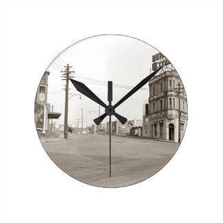 1920's vintage Street Photo Round Clock