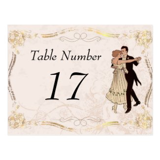 1920's Vintage Table Number Cards Post Card