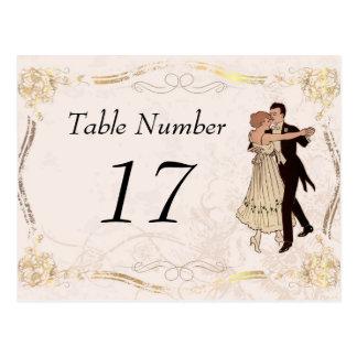 1920's Vintage Table Number Cards Postcard