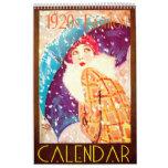 1920s Wall Calendar 2016