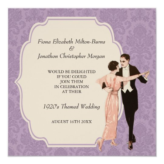 1920s Vintage Wedding Ideas: 1920's Wedding Invitation Vintage Dancing Couple