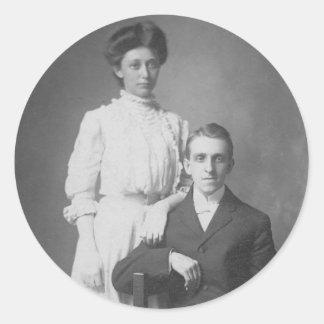 1920's Wedding Picture Classic Round Sticker