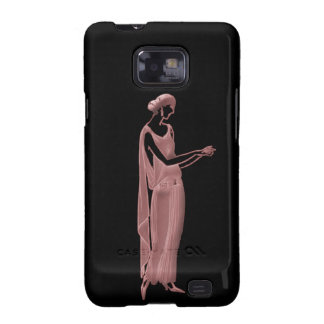 1920s Woman in Pink and Black Samsung Galaxy SII Covers