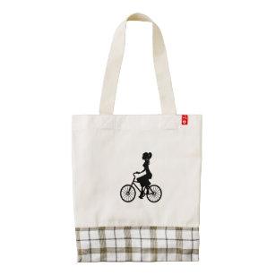 1920s women accessories zazzle 1920s Actresses 1920 s women riding bicycle clip art tote bag
