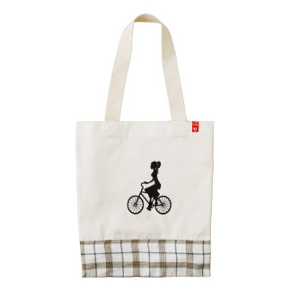 1920's Women riding Bicycle Clip Art tote bag