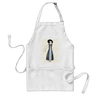 1920s Women's Fashion Dress and Hat Adult Apron