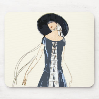 1920s Women's Fashion Dress and Hat Mouse Pad