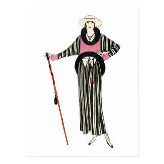1920's Womens Fashion Illustration Postcard