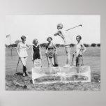 1920's Women's Golf Tee Off On ICE Print
