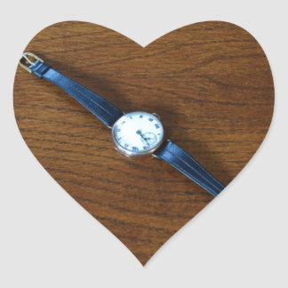 1920s Wrist Watch Heart Sticker