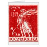1921 6m Polish Postage Stamp Greeting Cards