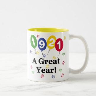 1921 A Great Year Birthday Two-Tone Coffee Mug