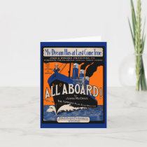 1921 All Aboard sheet music Note Card