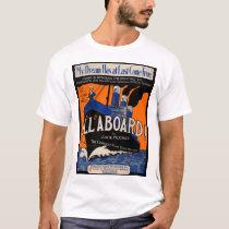 1921 All Aboard sheet music print T-Shirt