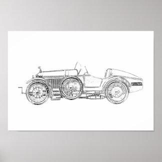 1921 Amilcar Racecar Poster