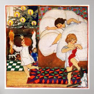 1921 Christmas Morning Print