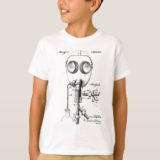 1921 Gas Mask Patent Design T-Shirt