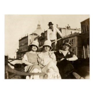 1921 Girlfriends in Venice Postcard