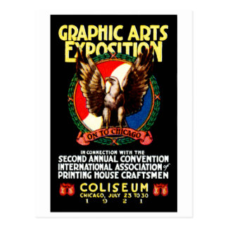 1921 Graphic Art Expo Poster Postcard