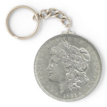 1921 Morgan Silver Dollar Key Chain