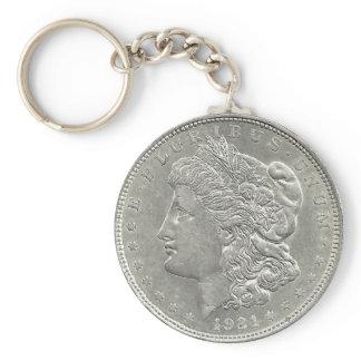1921 Morgan Silver Dollar Key Chain