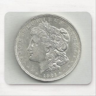 1921 Morgan Silver Dollar Mouse Pad