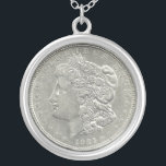 "1921 Morgan Silver Dollar Necklace<br><div class=""desc"">This is the 1921 Morgan Silver Dollar Necklace. A very cool image on a necklace.</div>"