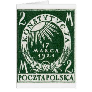 1921 Polish 2m Postage Stamp Card