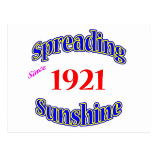 1921 Spreading Sunshine Postcard