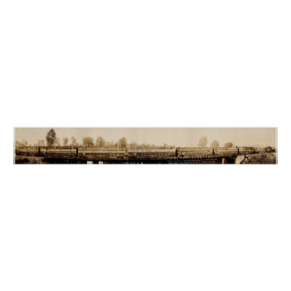 1921 Trainload of Huge Timbers Poster