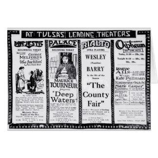 1921 vintage newspaper movie ads card John Gilbert