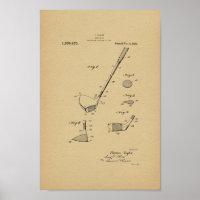 1921 Vintage Taylor Golf Club Patent Art Print