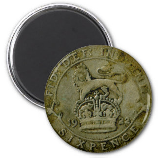 1922 British sixpence magnet