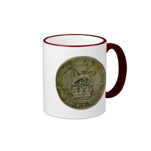 1922 British sixpence mug
