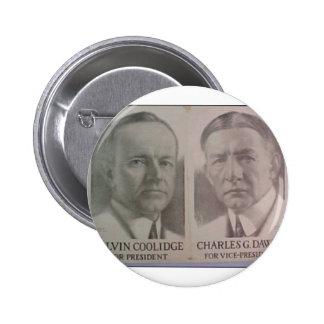 1922 Coolidge - Dawes Button