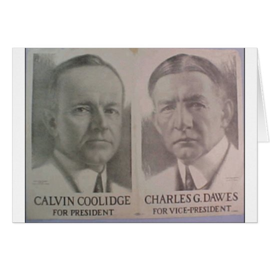 1922 Coolidge - Dawes Card